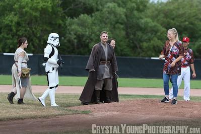 Barrie Baycats at Burlington Bandits Star Wars Day July 9, 2016
