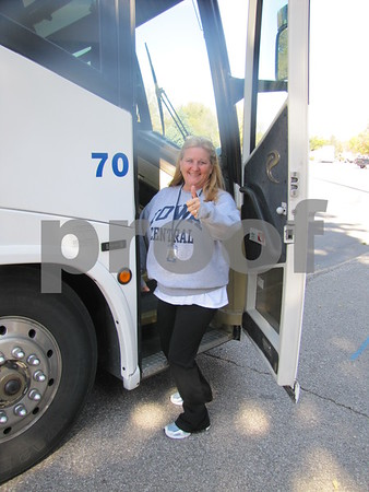 Denise McAnally has just delivered the ICCC football team to Dodger stadium for their Homecoming game.