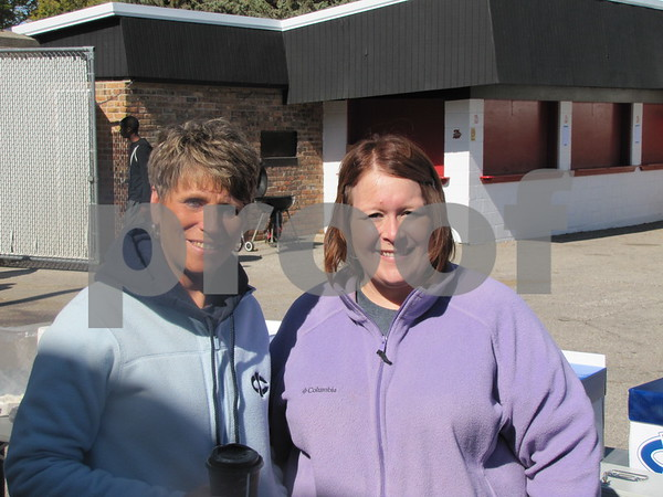 Phyllis Minnihan and Melissa Osai before ICCC's Homecoming game.