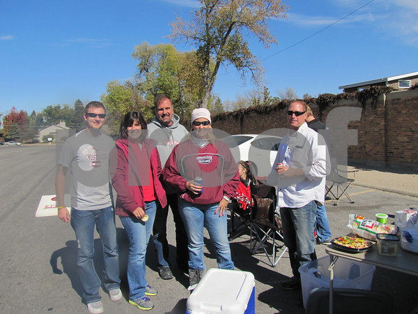 Jared Underriener, Tori and Brian Steinberg, and Lisa and Keith Heimer came from St. Ansgar to cheer on Morningside College at ICCC's Homecoming game.