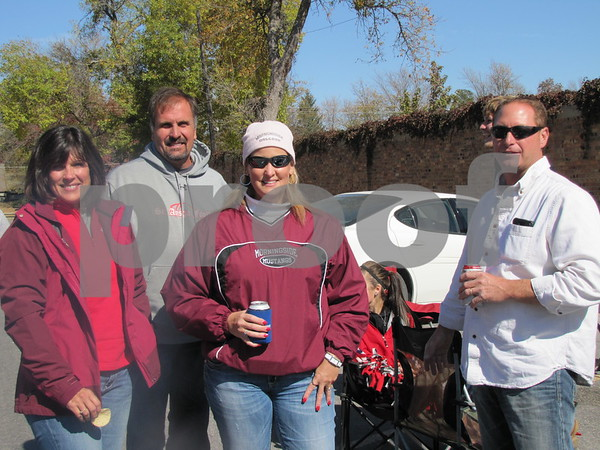 Tori and Brian Steinberg, and Lisa and Keith Heimer came from St. Ansgar to cheer on Morningside College at ICCC's Homecoming game.