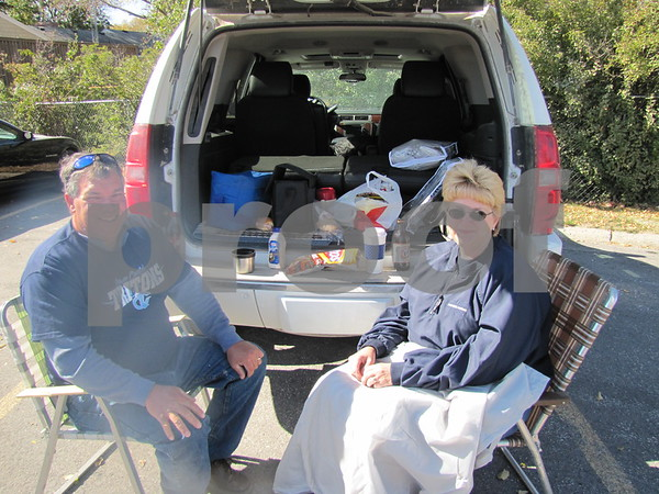 Pat and Monica Stoudt of Clarion were enjoying their tailgate before the ICCC Homecoming game.  Their son plays in the ICCC marching band.