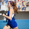 Paige Statler, Freeburg High School junior, in the 4x800 meter relay during the Class 2A Girls IHSA State Track and Field competition at the O'Brien Stadium on the campus of Eastern Illinois University in Charleston, Illinois on May 18, 2012. (Jay Grabiec)