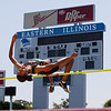 Deborah Blackburn, Edwardsville High School sophomore, in the high jump during the Class 3A Girls IHSA State Track and Field competition at the O'Brien Stadium on the campus of Eastern Illinois University in Charleston, Illinois on May 18, 2012. (Jay Grabiec)