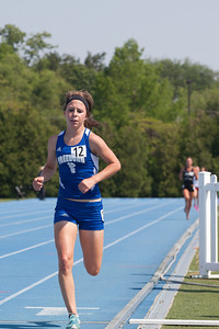 Kristen Busch, Freeburg High School senior, in the 1600-Meter run during the Class 2A Girls IHSA State Track and Field finals at the O'Brien Stadium on the campus of Eastern Illinois University in Charleston, Illinois on May 19, 2012. (Jay Grabiec)