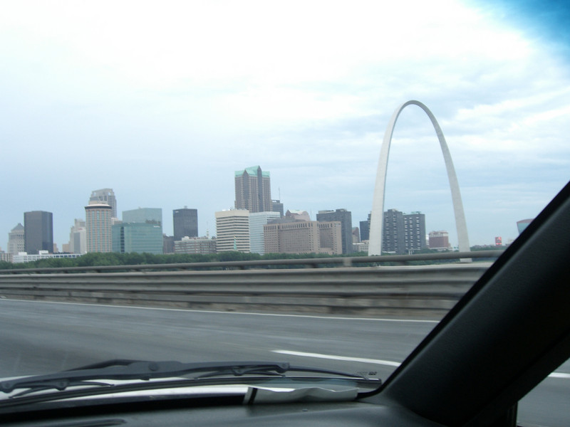 Over the river and into the City of Saint Louis.
