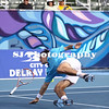 Jeremy Chardy<br /> 2009 Delray Beach International Tennis Championships - Second Round<br /> Chardy takes a nasty fall but still recovers to defeat Andrev Golubev and advance to the quarter finals<br /> Delray Beach, FL  USA - 02.26.09