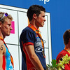 1st - Javier Gomez of Spain, <br /> 2nd - Brad Kahlefeldt of Australia,<br /> 3rd - Simon Whitfield of Canada