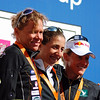 1st - Vanessa Fernandes of Portugal<br /> 2nd - Samantha Warriner  of New Zealand<br /> 3rd - Kate Allen of Austria