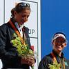 (L-R) Vanessa Fernandes,  Kate Allen