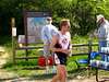 Robert comes into the Hwy 12 aid station while a volunteer checks the map to see where the heck he came from.