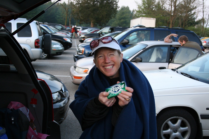 Mary just loves Eclipse gum for getting rid of coffee breath in the morning.  Eclipse, would you like to sponsor Mary at Badwater?  Would anyone like to sponsor Mary at Badwater?