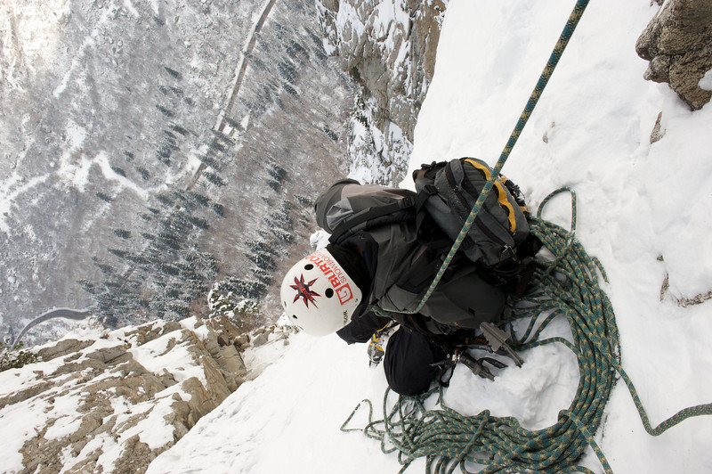 Ice Climbing Dec 2009 The Fang and The Great White Icicle, Utah 20