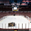 Sep 25, 2011; Detroit, MI, USA; A zamboni prepares the ice at the Joe Louis Arena prior to the game between the Chicago Blackhawks and the Detroit Red Wings. Mandatory Credit: Tim Fuller-US PRESSWIRE