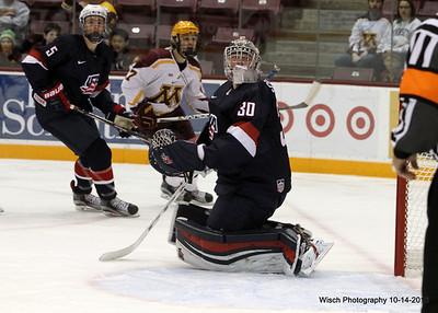 Gopher Men Hockey vs US Under 18 Team