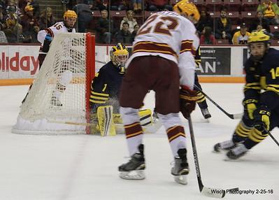 Gopher Mens Hockey vs Michigan Feb 25th 2016