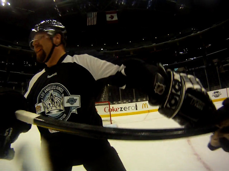 Nice, Marc skates out and starts it by cross checking me.... Pfffft lol