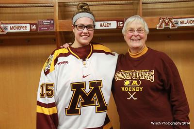 Gopher Women Hockey  Locker Sponsors 2014