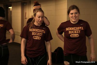 Gopher Women Hockey City Classic Jan 17 2014 PRE-GAME