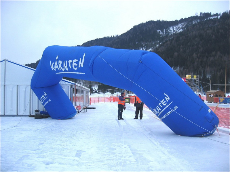 the finish blow away (Weissensee)