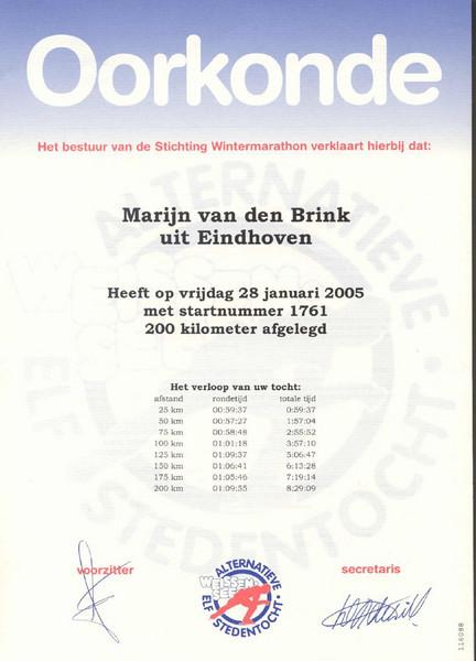 Alternatieve Elfstedentocht Weissensee (oorkonde SWM 2005)