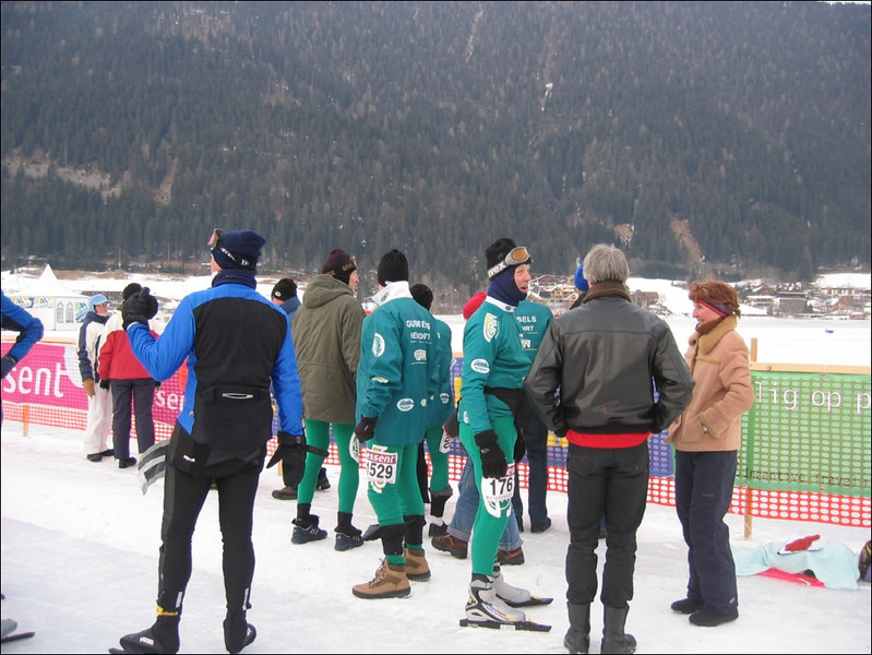 after the finish (Weissensee)