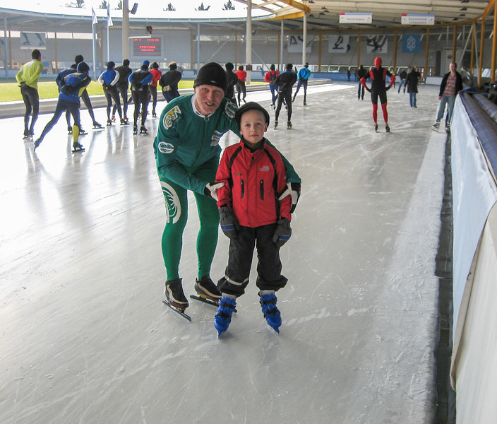 Stijn and Marijn at Ice Sport Center Eindhoven,