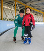 Stijn and Marijn at Ice Sport Center Eindhoven, Photograph André v. d. Burg