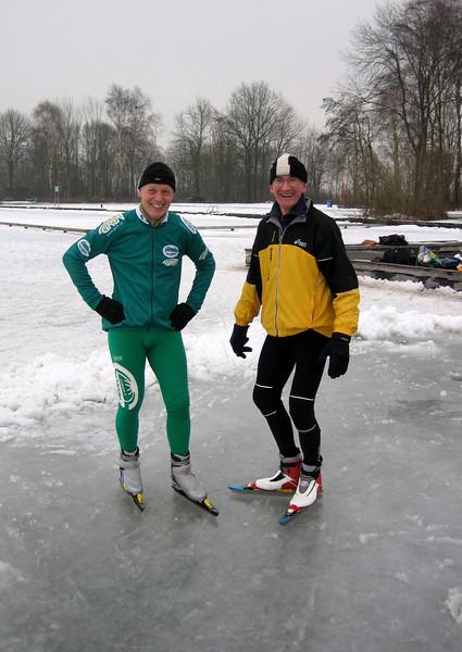 """Marijn and Andre, Loosdrechtse plas, ijsclub """"De vijfde plas"""" Breukelerveen"""