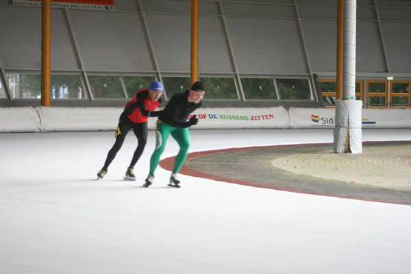 Martien Weijers and Marijn van den Brink in the U-turn