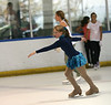 My daughter practices during the Ice Town public skate on August 12, 2007.