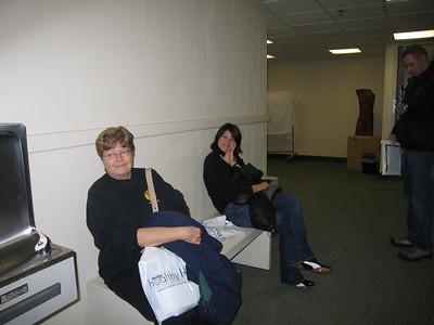 Andrea & Lynn waiting at registration
