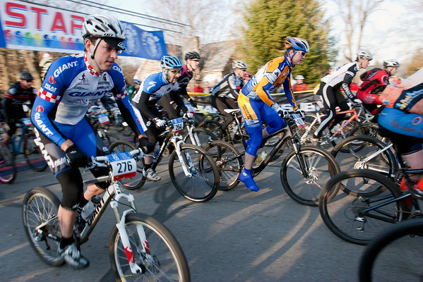 Record-Eagle/Douglas Tesner<br /> <br /> Riders in the the third wave of the mens export group take off from the start line in Kalkaska during the Iceman Cometh Challenge Bike Race.