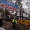 Record-Eagle/Keith King<br /> Andrea Kaifesh crosses the finish line Saturday, November 2, 2013 at Timber Ridge Resort during the 24th annual Iceman Cometh Challenge bicycle race.