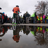 Record-Eagle/Keith King<br /> Riders gather as they prepare to approach the starting line Saturday, November 2, 2013 in Kalkaska for the start of the 24th annual Iceman Cometh Challenge bicycle race.