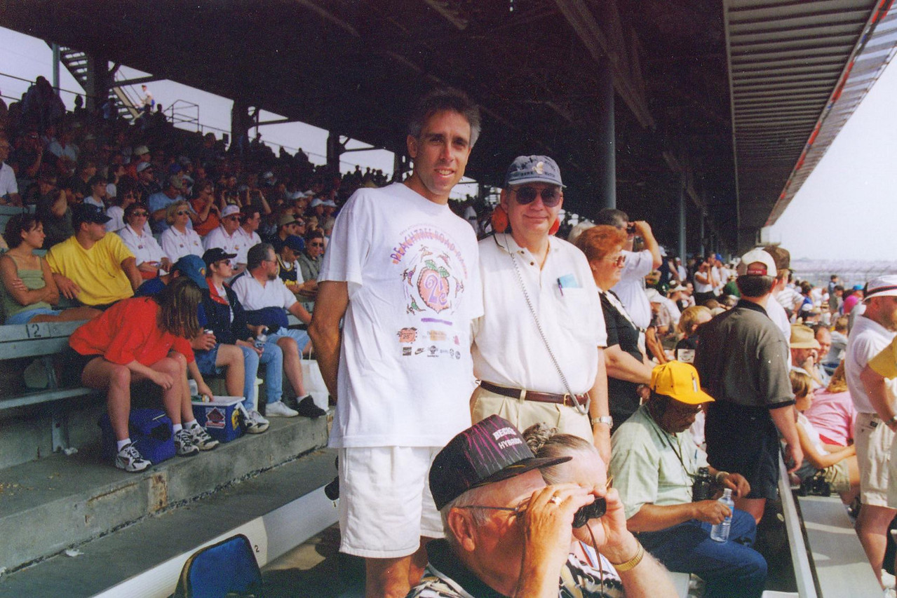 Scott and his Uncle at 1999 Indy 500.