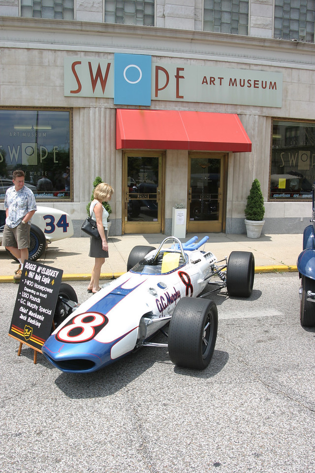 1967 Indy Eagle driven by Roger McCluskey.  Shown at Car Show in Terre Haute, July 2004.