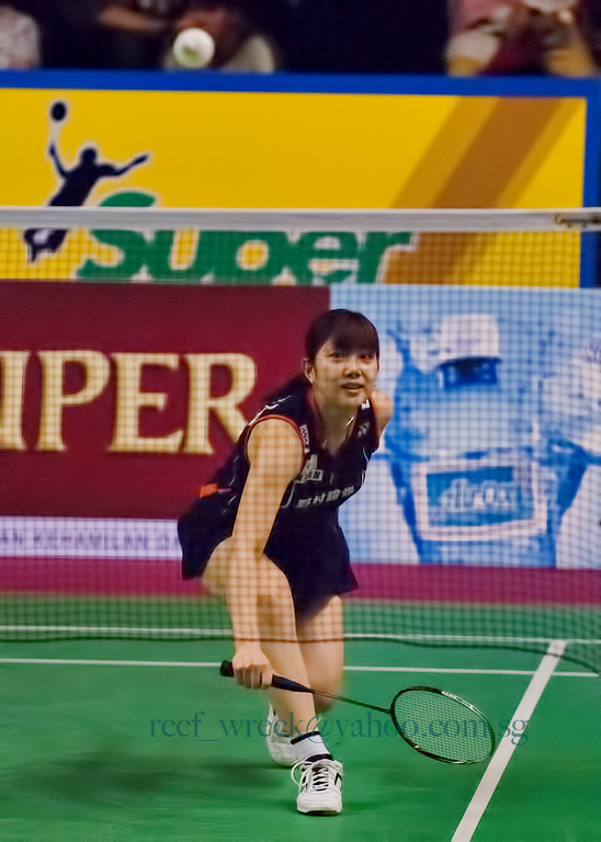 Reiko Shiota of Japan, one of the top doubles players in 2007.