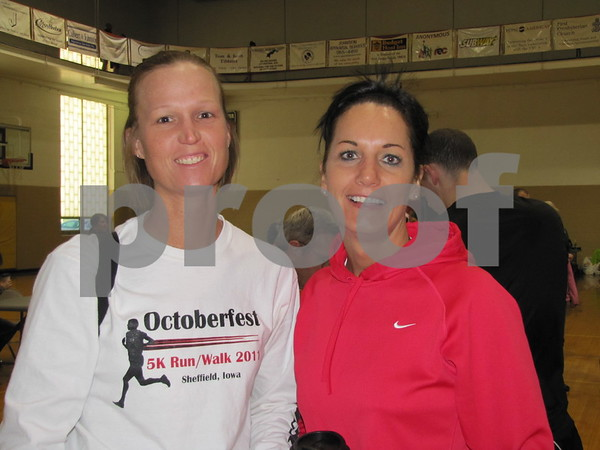 Tonya Caquelin and Tonya Heier just signed up for the tri-athlon and are ready to participate.