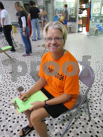 Mary Kuhlman was a volunteer at the REC's indoor Tri event.