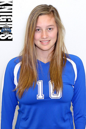 Front facing shot for player profile. KVA logo top left.