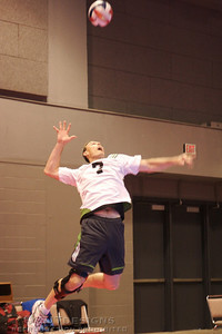 Paul turns on the jumpserves during the later matches of the tournament.