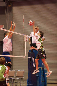 Tommy Narath #3 for NO CLUE puts the ball by the block.