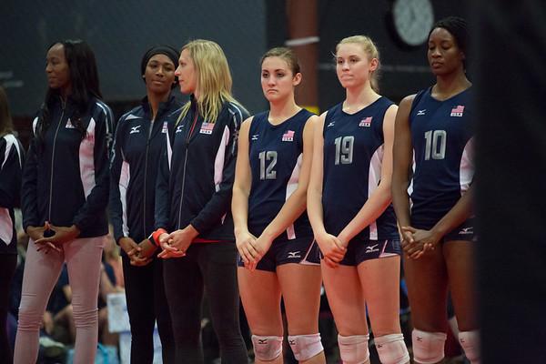Alexis Mathews; Chloe Ferrari; Christa Harmotto; Destinee Hooker; Foluke Akinradewo; Hayley Hodson