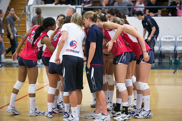 U.S. Women's National Volleyball Team Red-Blue Scrimmage - Santa Monica, CA (May 17, 2013)