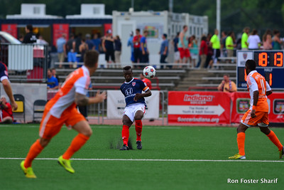 7/11/15- The Indy Eleven and Defender Erick Norales (Honduras) came roaring back after being down by 1 point, to go on a win against the Carolina Railhawks 2-1 at the IUPUI Carroll Stadium.
