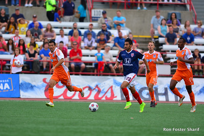 7/11/15- The Indy Eleven and Defender Marco Franco came roaring back after being down by 1 point, to go on a win against the Carolina Railhawks 2-1 at the IUPUI Carroll Stadium.