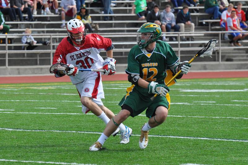 Patrick Worstell against St. Ignatius.