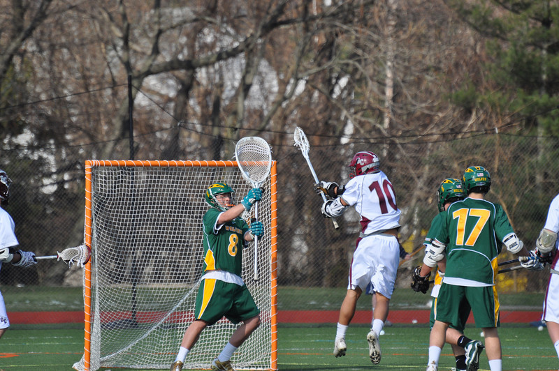 Cameron Bowlby makes a save against Garden City.
