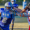 Rams Gary Armstrong (2) tries to keep a little distance from a Lafayette defender in the second quarter. Fran Ruchalski/Palatka Daily News